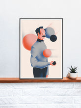 Load image into Gallery viewer, Duck Surreal Art Print on a Shelf