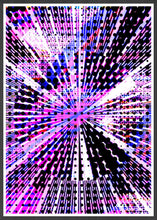 Load image into Gallery viewer, Eclipse Glitch Art Print in a frame