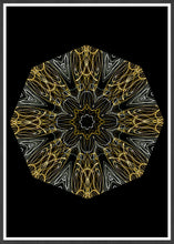 Load image into Gallery viewer, Edison Mandala Print in a frame