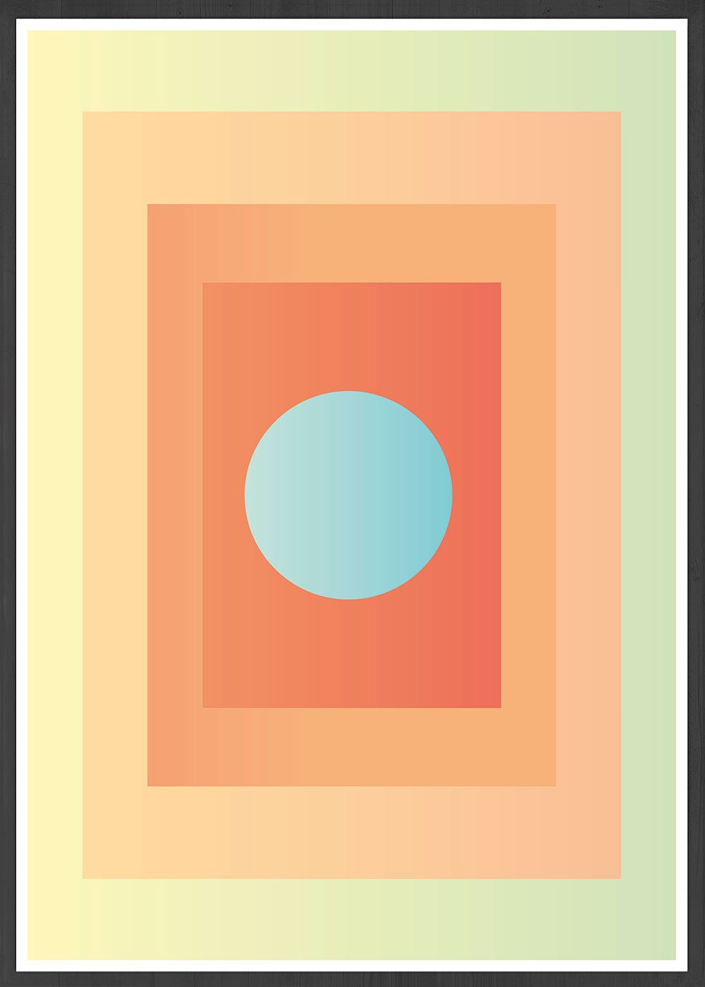 Egg Minimal Wall Art in a frame