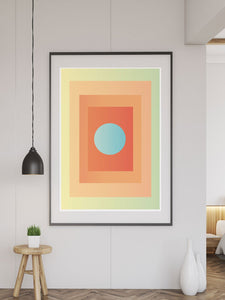 Egg Minimal Wall Art in a modern room