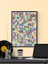 Load image into Gallery viewer, Elysium Field 4 Abstract Art Poster in a frame on a wall