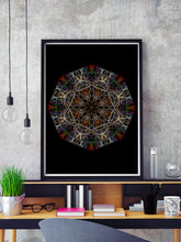 Load image into Gallery viewer, Endymion Symmetry Art Print in a frame on a shelf