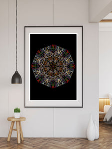 Endymion Symmetry Art Print in a frame on a wall
