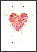 Load image into Gallery viewer, Enlightened Heart Watercolour Fine Art in a frame