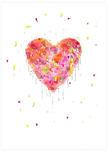 Enlightened Heart Watercolour Fine Art