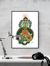 Load image into Gallery viewer, Equinox Illustration Art Print in a frame on a wall