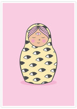 Load image into Gallery viewer, Eye of Matryoshka Russian Doll Print not in a frame