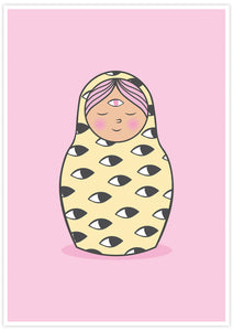 Eye of Matryoshka Russian Doll Print not in a frame