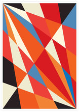 Load image into Gallery viewer, Facettes Deux Geometric Print Poster not in a frame