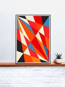 Facettes Deux Geometric Print Poster not in frame