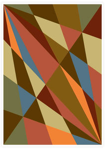 Facettes Trois Geometric Wall Art not in a frame