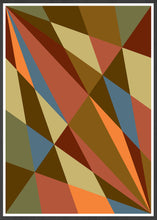 Load image into Gallery viewer, Facettes Trois Geometric Wall Art in frame