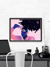 Load image into Gallery viewer, Fade Into Your Melody Art by Figen Demireva In a Room Interior