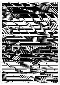 Fax Black and White Pattern Print not in a frame