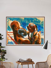 Load image into Gallery viewer, Final Round Boxing Wall Art in a traditional room