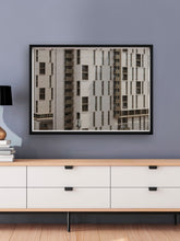 Load image into Gallery viewer, First Street Building Artwork Print in Modern Space