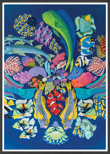 Fishanocci Sea-Life Art Print in frame