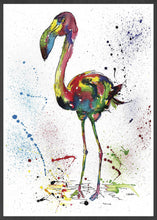 Load image into Gallery viewer, Flamingo Illustration Print
