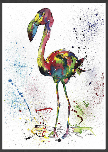 Flamingo Illustration Print