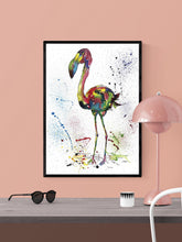 Load image into Gallery viewer, Flamingo Art Poster