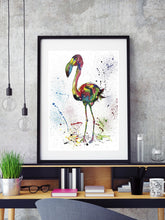 Load image into Gallery viewer, Flamingo Watercolour Print