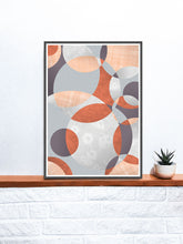 Load image into Gallery viewer, Flower Spiral Abstract Art with Circles on a Shelf