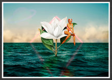 Load image into Gallery viewer, Flowers in the Sea Collage Poster
