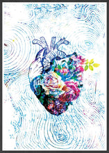 Load image into Gallery viewer, Flowers of my Heart Illustration Print Art in frame