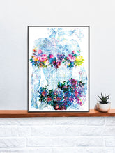 Load image into Gallery viewer, Flowers of my Soul Floral Abstract Art on a Shelf