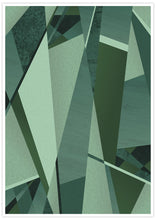 Load image into Gallery viewer, Forest Greens Geometric Art Print not in a frame