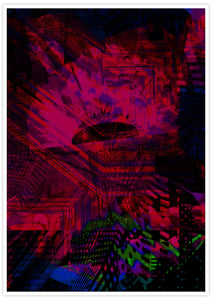 Fox Den Glitch Print Art no frame