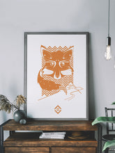Load image into Gallery viewer, Fox Landscapes Fox Art Print in a frame on a shelf
