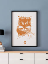 Load image into Gallery viewer, Fox Landscapes Fox Art Print in a frame on a wall