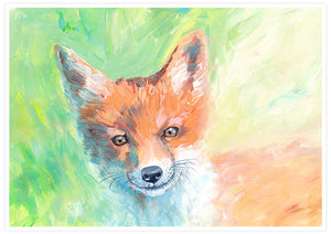 Foxy Lady Quirky Painting Print