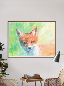Foxy Lady Quirky Painting Print in a traditional room