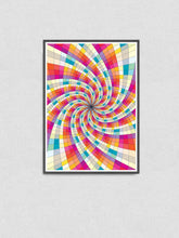 Load image into Gallery viewer, Fractal Light Spiral Pattern Print in a frame on a wall