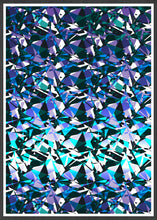 Load image into Gallery viewer, Fractal Overlay Abstract Pattern Print In a frame