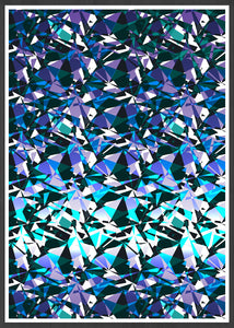 Fractal Overlay Abstract Pattern Print In a frame