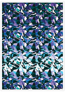 Fractal Overlay Abstract Pattern Print not in a frame