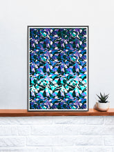 Load image into Gallery viewer, Fractal Overlay Abstract Pattern Print on a shelf