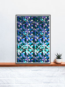 Fractal Overlay Abstract Pattern Print on a shelf