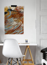 Load image into Gallery viewer, From the Pools Macro Oil Print in a stylish bedroom