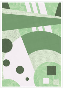 Garden Funk Geometric Pattern Print not in a frame
