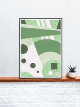 Load image into Gallery viewer, Garden Funk Geometric Pattern Print on a Shelf