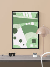 Load image into Gallery viewer, Garden Funk Geometric Pattern Print in a frame on a wall