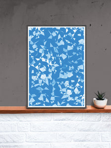 Geo Shower Geometric Digital Print on a shelf
