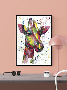 Giraffe Animal Poster