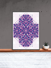 Load image into Gallery viewer, GlassSymmetry Art Print in a frame on a shelf
