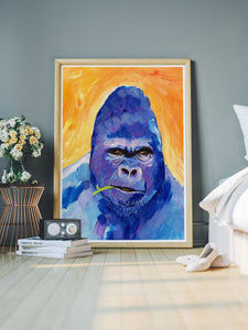 Gorilla Animal Portrait in a lovely bedroom
